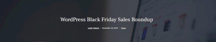 Word Press Black Friday Sales Roundup